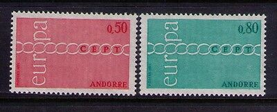 Andorra Europa Issue Stamps  Sc# 205-206 Cpl.MH Set Cat.$20