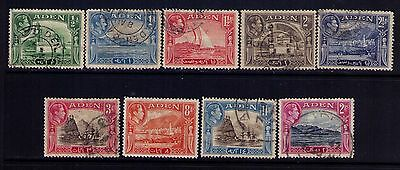 ADEN 1936 Stamps,KG VI Sc# 16//25 Used Selection