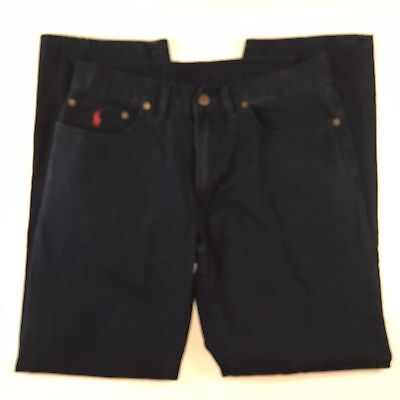 Polo Ralph Lauren Navy Flat Front Straight Fit Cotton Chinos Pants Mens 32x30