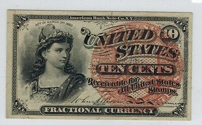 10c Fractional Currency 4th Issue Large Seal Fr.1258