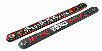 2X Bullet for My Valentine & Escape The Fate Rubber Wristband Bracelet