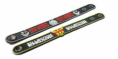 2X Disturbed & KILLSWITCH ENGAGE Rubber Wristband Bracelet Free Shipping