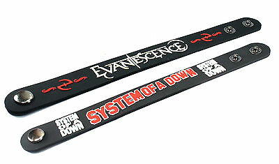 2X EVANESCENCE & System of a Down Rubber Wristband Bracelet Free Shipping