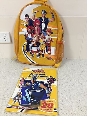 Lazy Town TV Show Back Pack + press out acitivity book