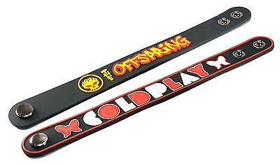 2X THE OFFSPRING & Coldplay Rubber Wristband Bracelet Free Shipping