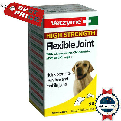 Vetzyme High Strength Flexible Joint Tablets For Dogs *UK* 30-90-270 Tablets