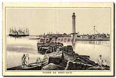 CPA Phare De Port Said Egupt Egypte