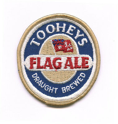 TOOHEYS FLAG ALE Sew on Emroidered Patch Australian Lager Beer