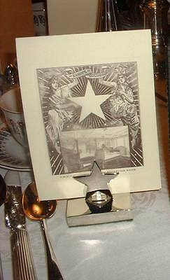 ORIGINAL STYLE White Star Line Titanic First Class Menu & Silver Holder