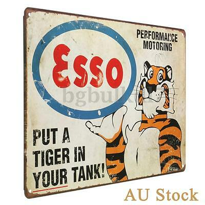 Tiger Vintage Retro Metal Tin Sign Poster Plaque Bar Pub Club Wall Home Decor AU