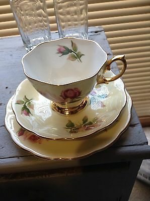 Royal Albert English Beauty Trio Cup Saucer And Plate