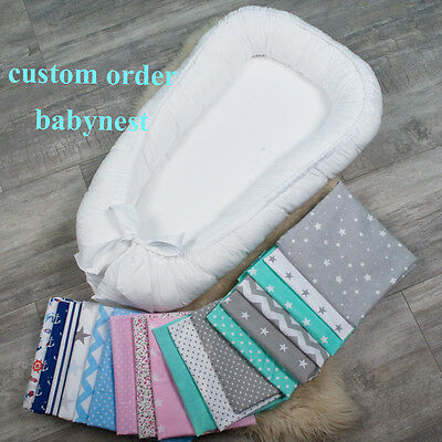 Colour your nest, custom order double-sided babynest for the newborn baby