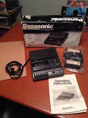 Panasonic Microcasssette Transcriber RR-930 & Dictation Foot Switch TESTED