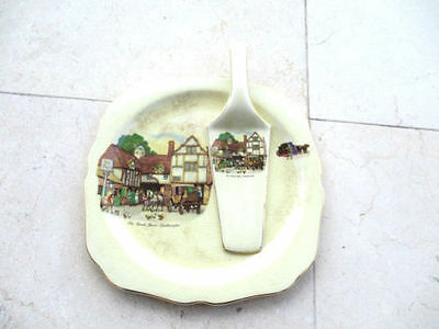 Staffordshire Lord Nelson Ware Cake And Server 3105 Old Coach House Woolhampton