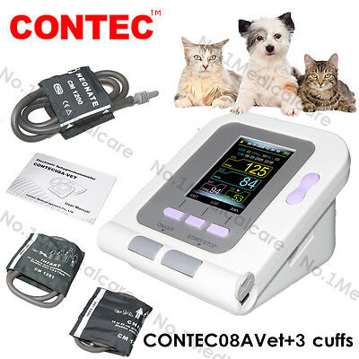 Vet veterinary digital blood pressure monitor, 3 cuffs for animal/dog/cat, USA