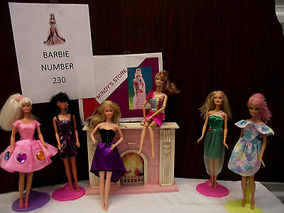 Barbie doll lot of six number 230 fashion going