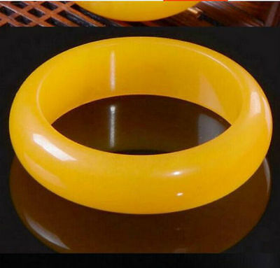 Natural Beautiful yellow Jade Jade Bangle 60mm Bracelet Handmade