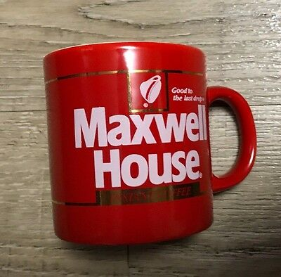Maxwell House Red Coffee Cup Mug Good To The Last Drop Used Nice Condition Java