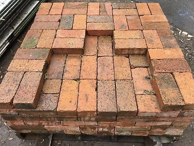 Terracotta Coloured Pavers. Standard Size.