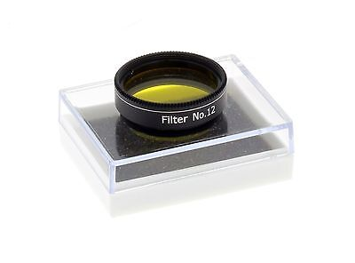 "Yellow Colour 1.25"" Telescope Filter - (74% transmission) Enhances Red/Orange..."