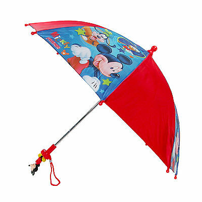 New Disney Kids' Mickey Mouse & Friends Stick Umbrella with Character Handle