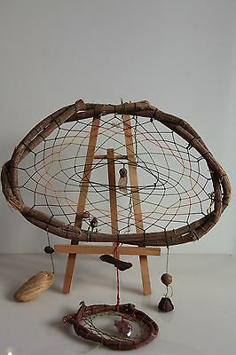 Guatemala Dreamcatcher with energy stones, seeds and wood. #1