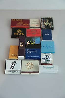 Lot of 15 Matchboxes from from Clubs and Restaurants. USED #1
