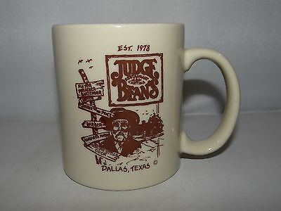 Judge Beans Restaurant Cantina Dallas Texas Mug Cup 9oz. Coffee Mug Tea Cup