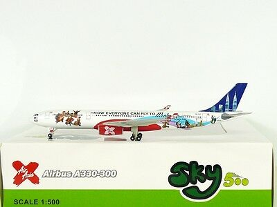 """SKY500 Air Asia Airbus A330-300 1:500 """"Fly to Malaysia"""" Reg. 9M-XXF (0751)"""