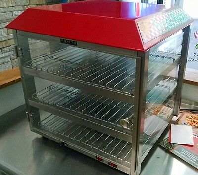 Commercial Countertop Food Warmer Pizza Display Case (w/ box)
