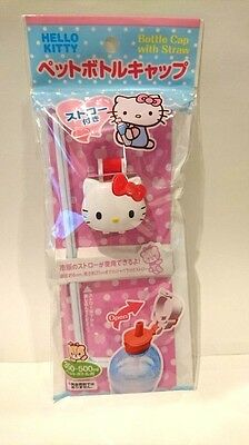 DAISO JAPAN  HELLO KITTY PET Bottle Cap with Straw Sanrio Ship to Worldwide