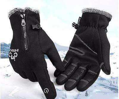Cycling Bike Gloves Winter long finger Fur lined and Windproof Inbike