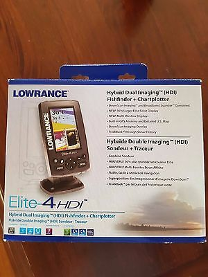Lowrance elite- 4HDI fishfinder + chartplotter including navionics gold maps