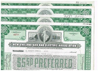 Set 4 New England Gas and Electric Association, 1940s