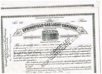 Set 6 Springfield Gas Ligt Co., 1920s