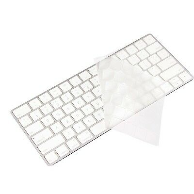 XSKN Thin Clear TPU Translucent Keyboard Cover Silicone Skin for Apple Magic ...