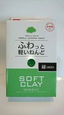 DAISO JAPAN Green Soft Clay Made in Japan Arcilla Suave F/S Ship to Worldwide