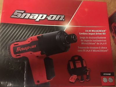 "NEW Snap-On Tools CT761QC 14.4V L-Ion 1/4"" Drive Cordless Impact Driver Kit"