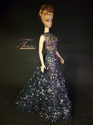 OOAK Barbie Silkstone FR Monogram Handmade Fashion Royalty Beaded Sequins