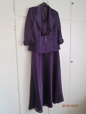Beautiful Royal Purple Evening Gown and Jacket, UK Size 14