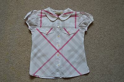 Girls pink Burberry blouse