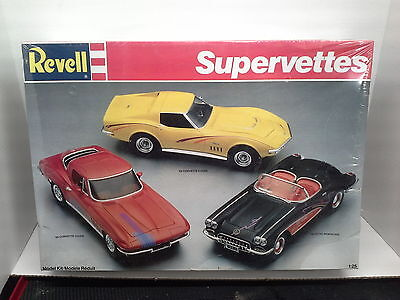 Revell Supervettes: 65 Coupe, 69 Coupe, & 60 Roadster- 1/25 Scale - Sealed