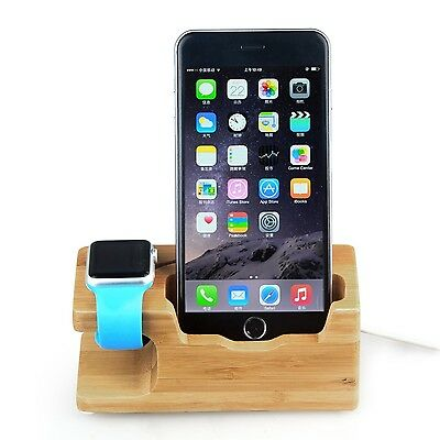 Hapurs Updated Apple Watch Stand 2016 New Version iWatch Banboo Wood Charging...