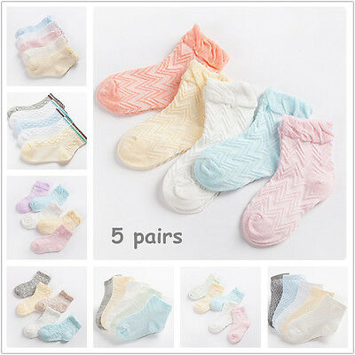 US Seller 5Pairs Baby Kids Cartoon Cotton Socks NewBorn Infant Toddler Soft Sock