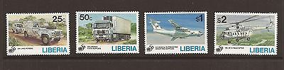 Liberia 1995 UN 50th Anniversary set. Scott 1187-90. Unmounted mint.