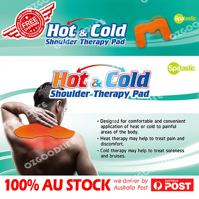 AU   Microwaveable Heat Pad 45x31cm gel Shoulder Wrap Hot & Cold