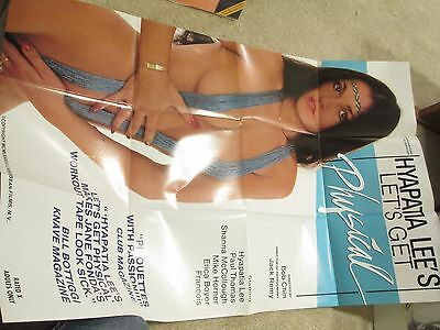 Adult movie poster one sheet Hyapatia Lee Let's Get Physical 1984 sexploitation