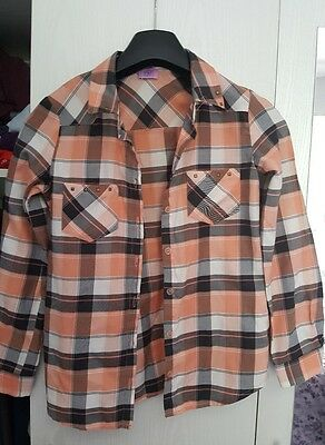 girls checked shirt age 9-10