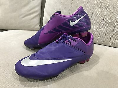 Nike Mercurial Kids Girls Boots Soccer Football Shoes Cleats Size US 4Y Purple