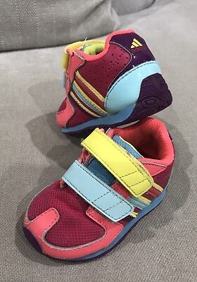 Super Cute Adidas Unisex Sneakers Velcro Running Shoes Kids Toddler Size US 4k